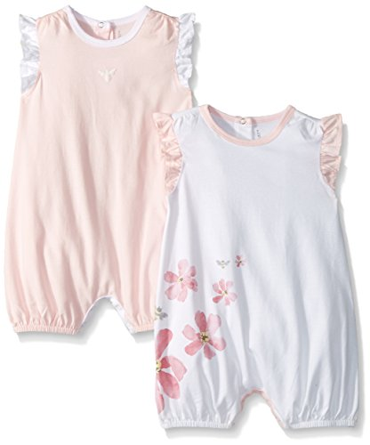 58e363eff Rompers – Burt's Bees Baby Baby Girls Rompers, Set of 2 Bubbles, One Piece  Jumpsuits, 100% Organic Cotton, Blossom Flowers/Bee 3-6 Months