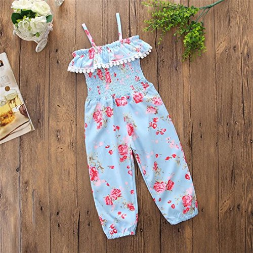 Headband Sunflower One-Piece Stripe Ruffle Floral Bodysuits Jumpsuit ESHOO Summer Baby Girls Romper