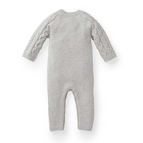 62e11d07217 Rompers – Hope   Henry Layette Grey Cable Knit Sweater Romper