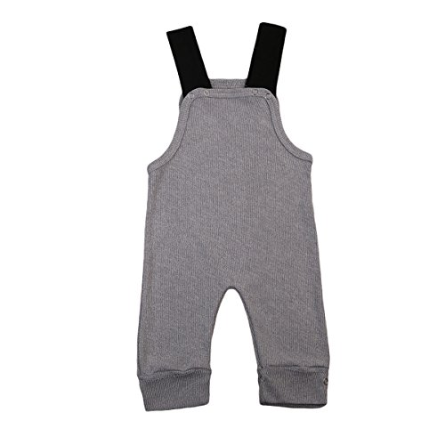 d9c309f4e24 Rompers – Imcute Baby Boys Girls Strap Grey Kintted Sweater Romper Jumpsuit  Outfit (6-12 Months