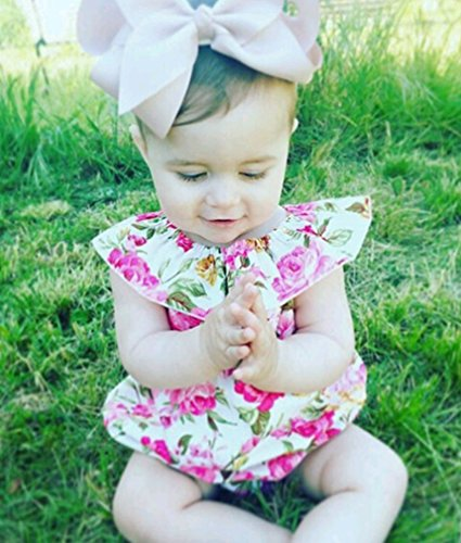 a1b8d5394 Today you are studying one among the post about Emmababy Baby Girls Romper  Off Shoulder Flowers Bodysuit Ruffle Sunsuit Playsuit Buttons Outfit.
