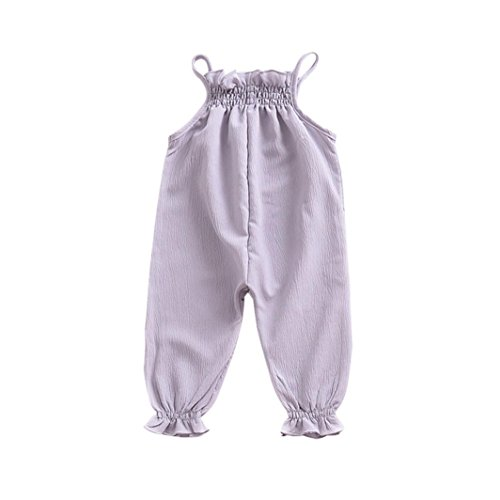 Lovely Newborn Kid Baby Girl Cotton Strap Romper Jumpsuit Harem Trousers Clothes