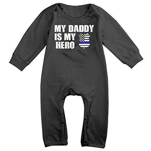 524643889 Rompers – LOSPAMA My Daddy is My Hero Thin Blue Line Police Badge ...