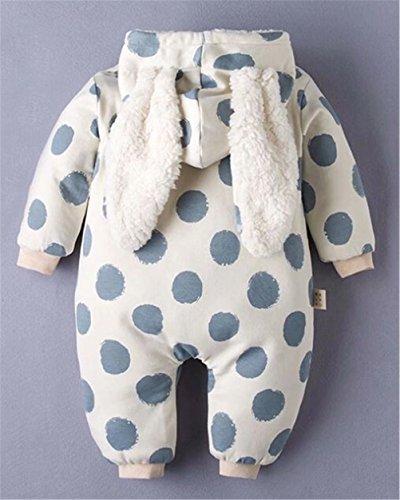 58121d4dd Rompers – Newborn Baby Boys Girls Fleece Thick 3D Cartoon Rabbit Ear Hoodie  Romper Jumpsuit Snowsuit Size 0-3 Months/Tag66 (Blue)