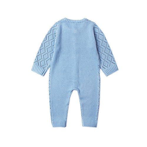 58b42a148a6 Rompers – Ziyunlong Baby Knit Sweater Romper Newborn Long Sleeve Breathable  Jumpsuit One Piece Overall Infant Baby Winter Clothes(0-6M