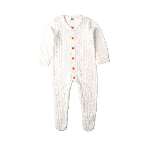 Coerni Newborn Baby Cute Kintted Cotton Sweater Romper Jumpsuit