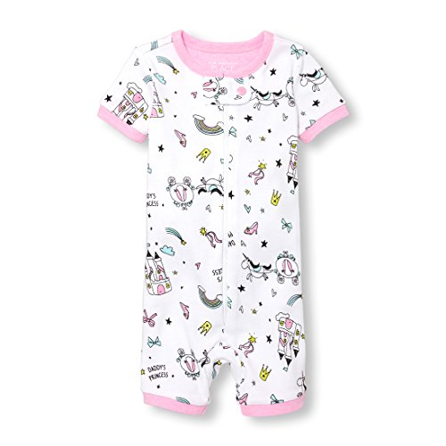 The Childrens Place Baby Boys Novelty Printed One Piece Long Sleeve Footed Sleeper